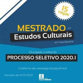 Pesquisador do NENP/Impróprias é credenciado como professor permanente no Programa de Pós-Graduação – Mestrado em Estudos Culturais – Aquidauana/UFMS